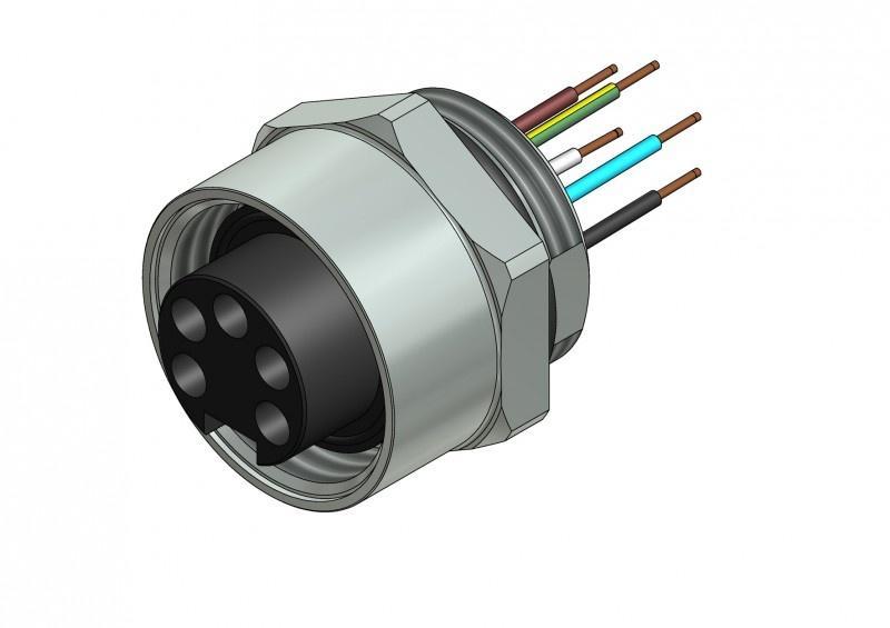 Panel mount connectors, circular connectors - Panel mount connectors