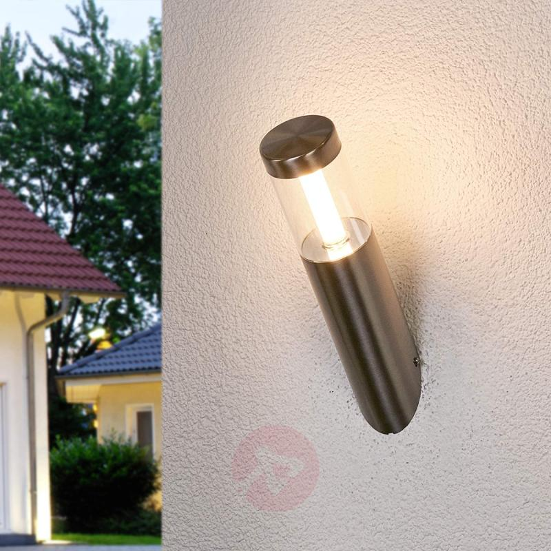 Angular LED wall lamp Ellie for outdoor use - stainless-steel-outdoor-wall-lights