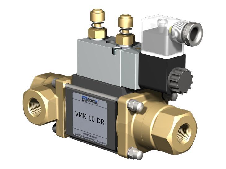 Co-ax Vmk   Vfk Dr Coaxial Valves - 3/2 Way coaxial externally controlled valves