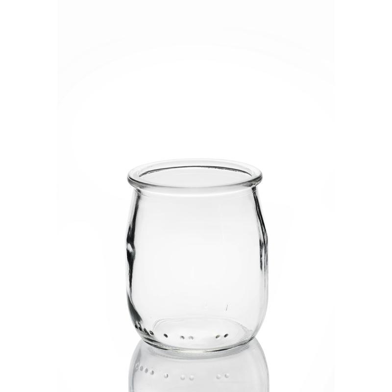 24 yoghurt jars 143 ml (125 gr.)  - with plastic cap included