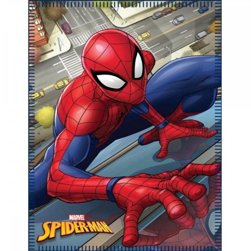 6x Couvertures polaires Spiderman 100x140 - Linge de maison