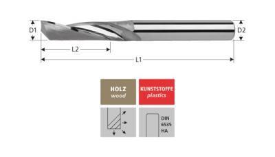 Milling Tools: for aluminium - sc single flute end mill