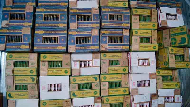 Коробки банановые б/у - Сортированные в пачках