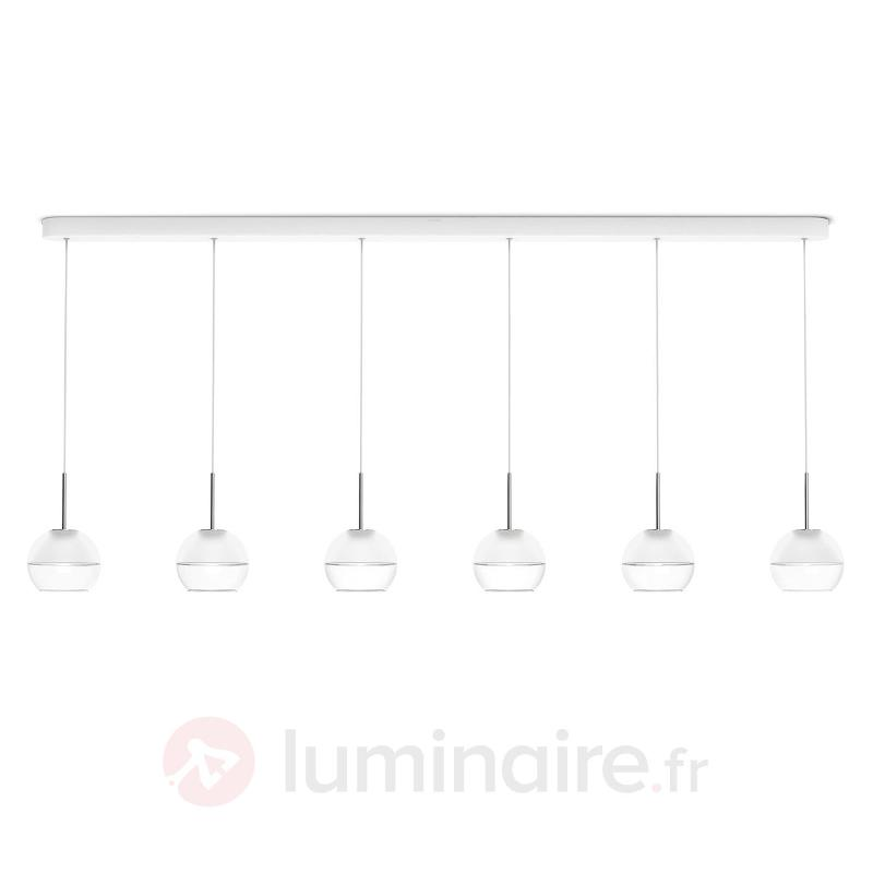 Suspension LED Arago à six lampes - Suspensions LED