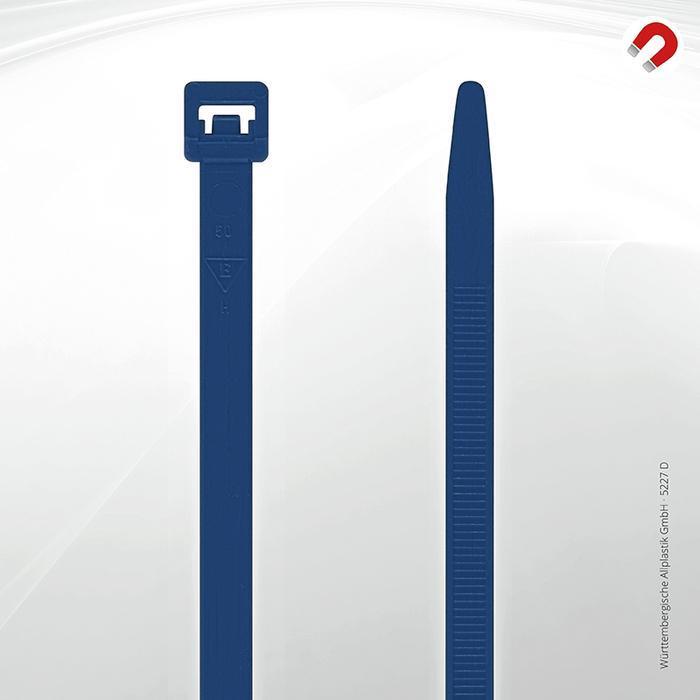 Allplastik-Kabelbinder® cable ties, detectable - 5227 D (blue)