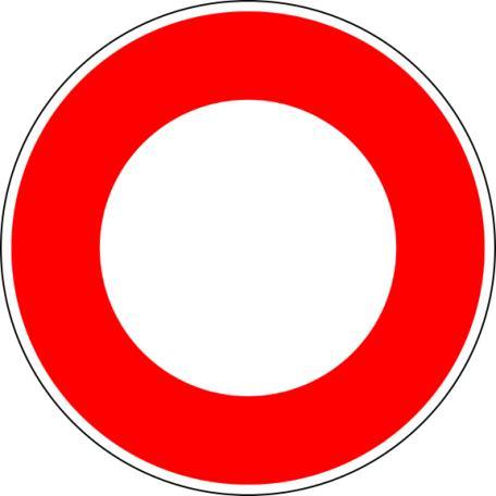 Panneau B0 Circulation Interdite - Balisage De Chantier Et Panneaux Routiers