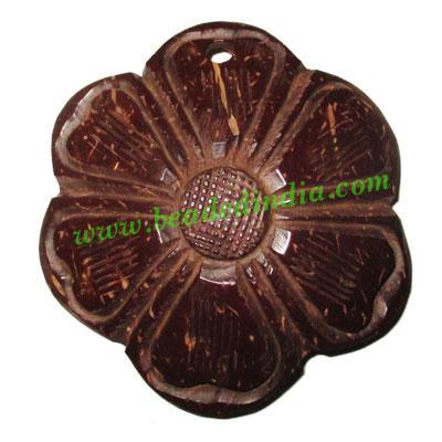 Handmade coconut shell wood pendants, size : 54x3mm - Handmade coconut shell wood pendants, size : 54x3mm