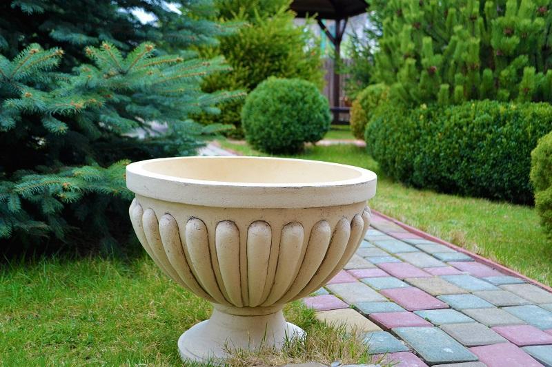 Садовые вазы из шамотной глины - Прочные вазы, цветочные горшки и вазоны