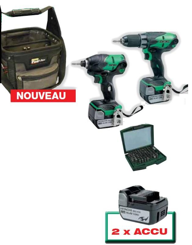 2 machines 14V LI-ION avec 2 accus 3.0AH - null