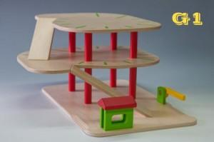 Wooden garage G1 - Wooden Toy