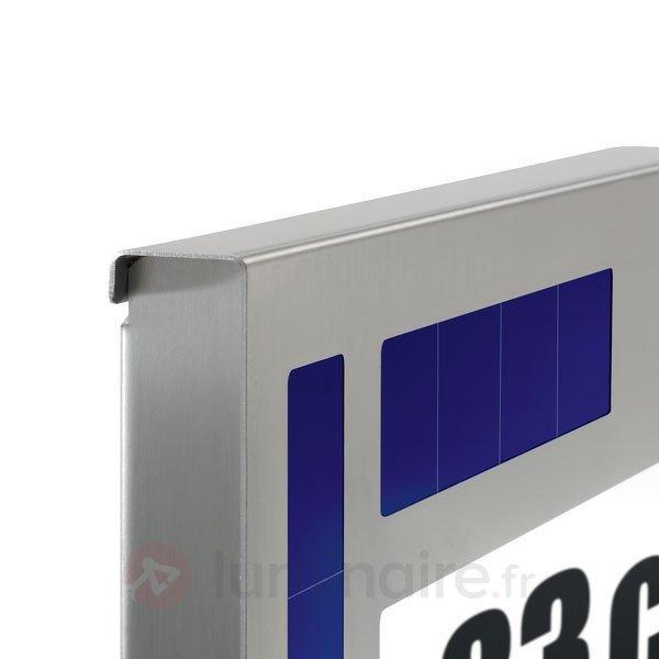 Numéro de maison lumineux solaire, LED - Numéros de maison lumineux