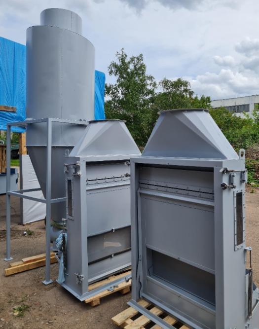 Циклоны, вентиляторы, аспирационные колонны - Аспирационное оборудование: циклоны, аспирационные колоны, вентиляторы, шлюзовые