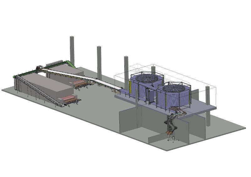 Cooling and packaging of the long loaves - COMPLETE LINES <ON A TURN-KEY BASIS> FOR THE FOOD INDUSTRY
