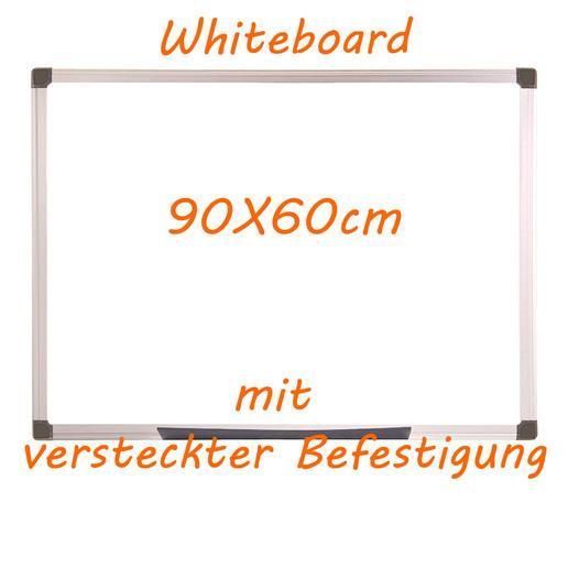 Whiteboard 90x60cm versteckte Befestigung - null