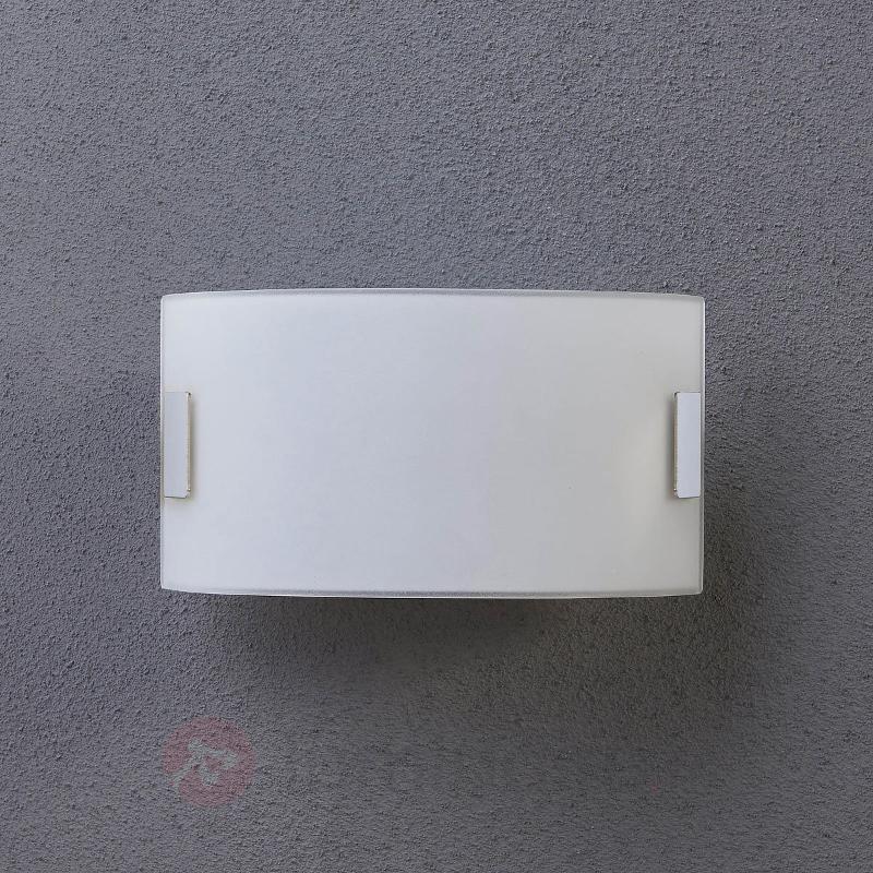 Applique en verre blanche Gisela avec LED - Appliques en verre