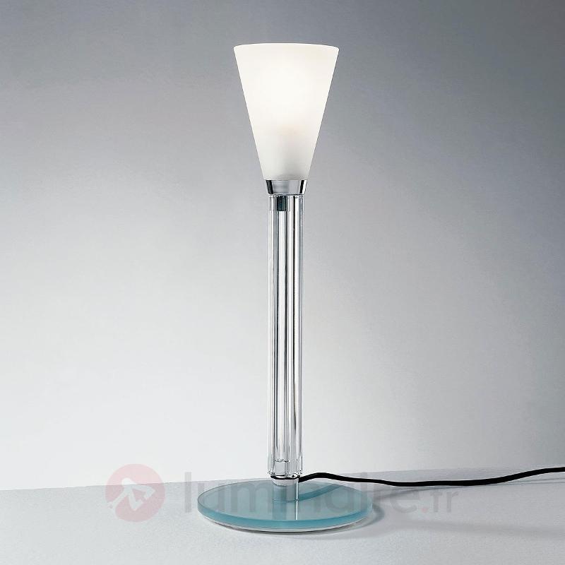 Lampe à poser ICE 02 à diffuseur en cristal gravé - Lampes de chevet