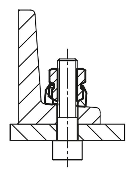 Écrous à rondelle concave - Éléments de liaison