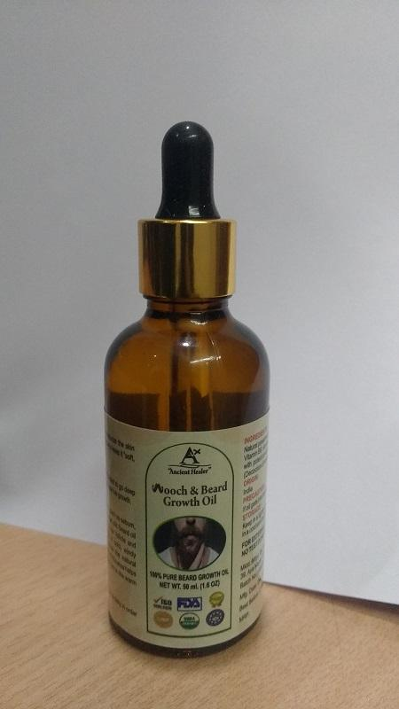 Ancient healer Mooch & Beard Growth hair oil - Mooch & Beard Growth hair 100 % PURE Oil