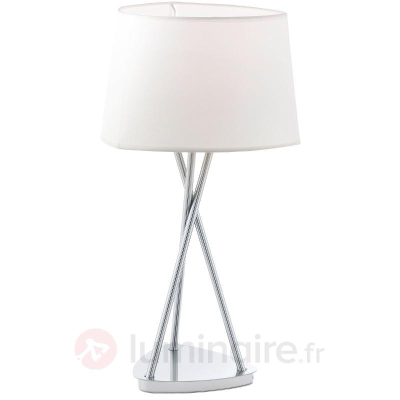 Lampe à poser avec abat-jour textile Belora - Lampes à poser en tissu