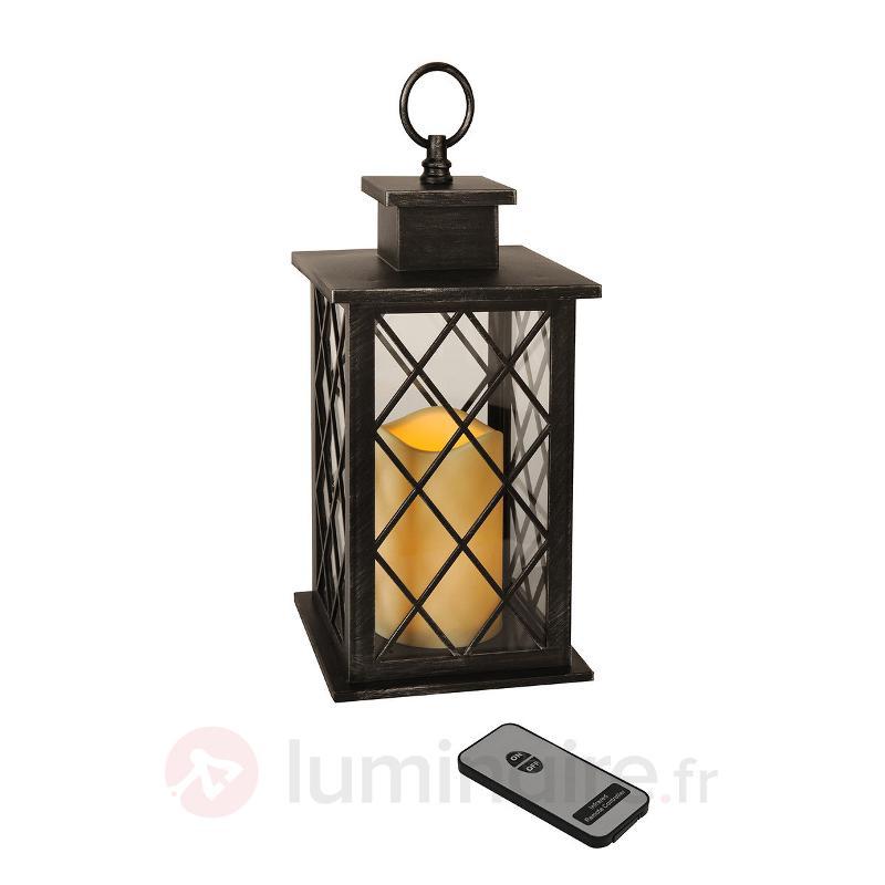 Lampe décorative LED noire Jaipur Lantern - Lampes décoratives d'intérieur