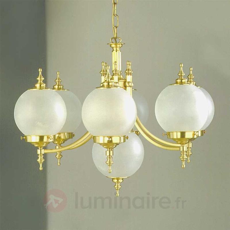 Suspension OBJEKT, 7 lampes, bronze - Lustres classiques,antiques