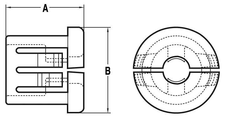 NH404 - Passe-fil à pincement - Passe-fils