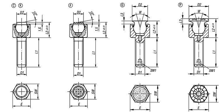 Flexibles Normteilesystem - Pendelauflagen verstellbar mit O-Ring