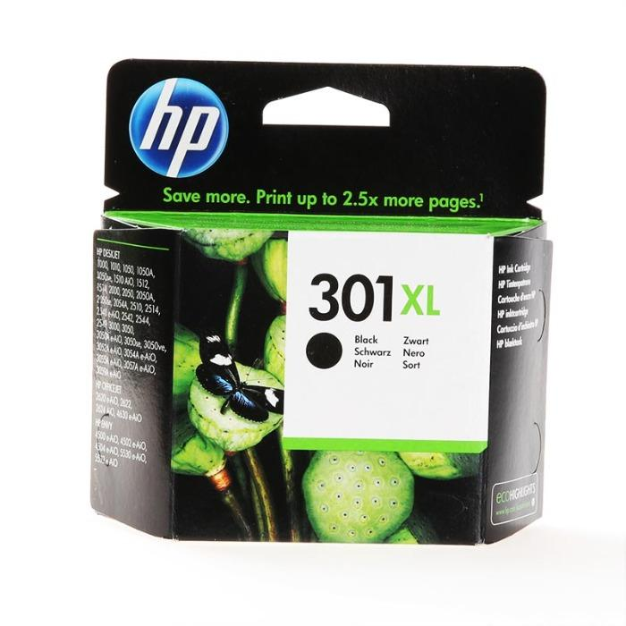 HP Inkt - CH563EE - No. 301XL - HP Inkt CH563EE High capacity No. 301XL zwart