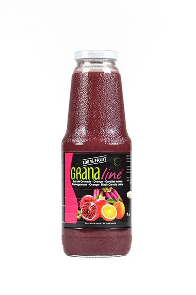 100% pur jus de Grenade/Orange/carottes noires Bio