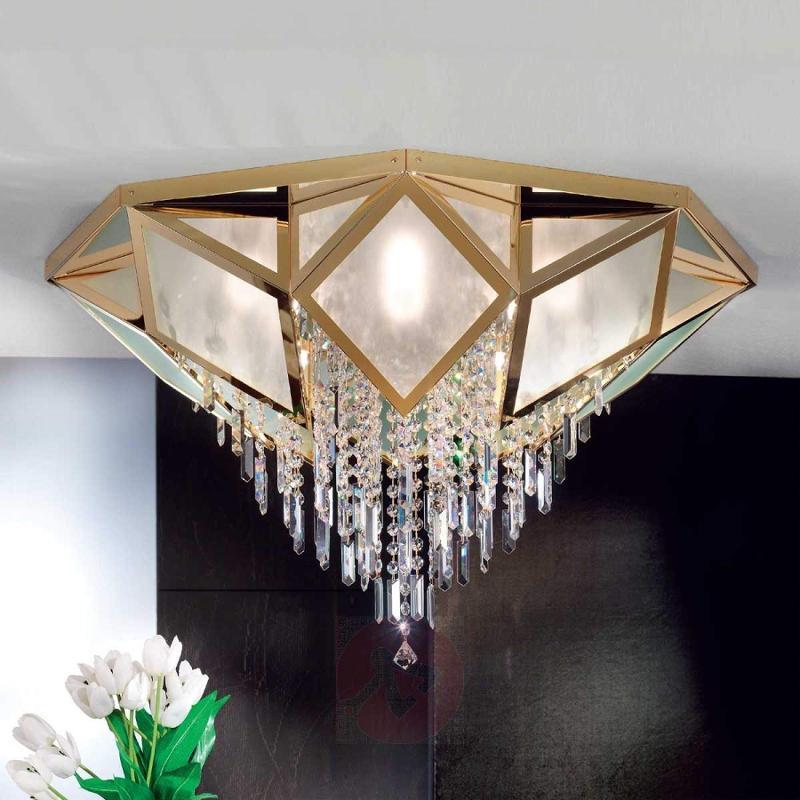 Oktoga Ceiling Light Sparkling Crystal 57 cm - design-hotel-lighting