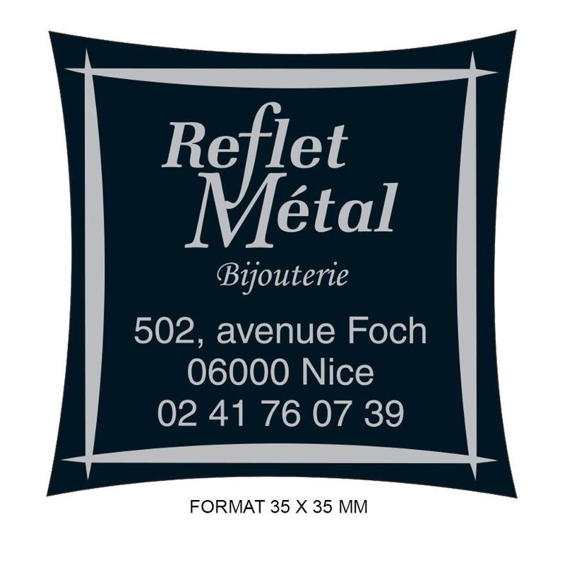 Étiquettes reflet métal - Etiquette autocollante pour boutique