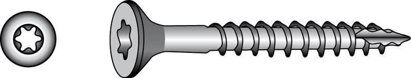 Quadra-Speed® Fassade, Senkkopf-Holzbauschrauben - Material A2 | A4