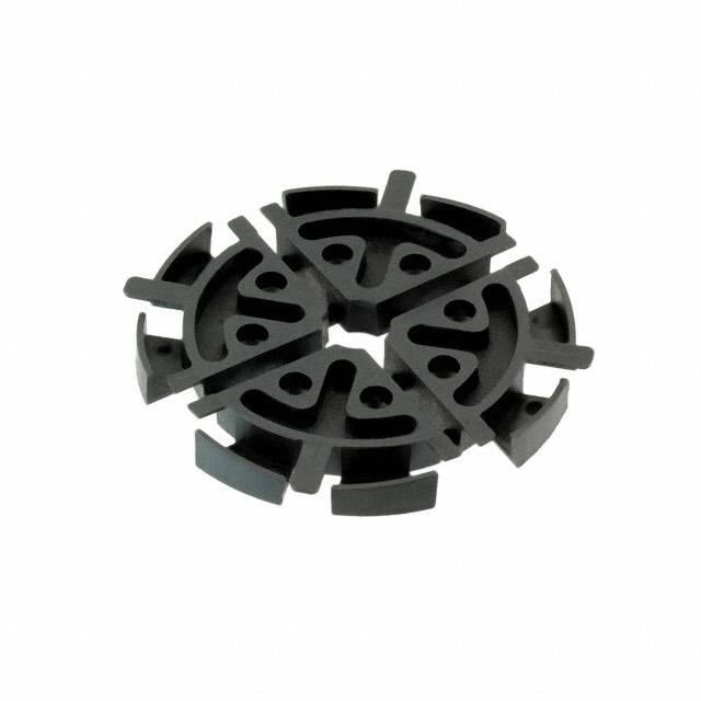 FIBER RL,BLACK,25MM RAD,6.35MM S - Essentra Components EFA04-21-001