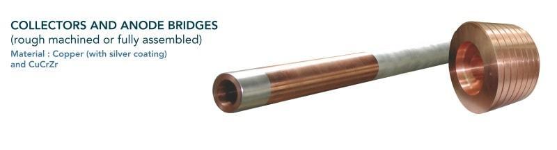 Collecteur et pont d'anode - Sidérurgie - électro galvanisation