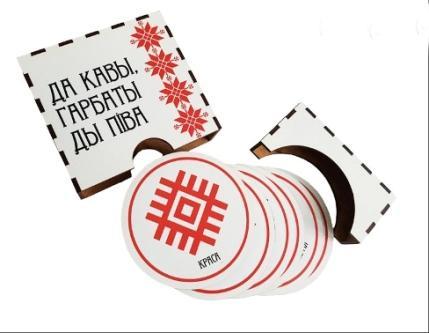 Personalized wooden souvenir mug coasters