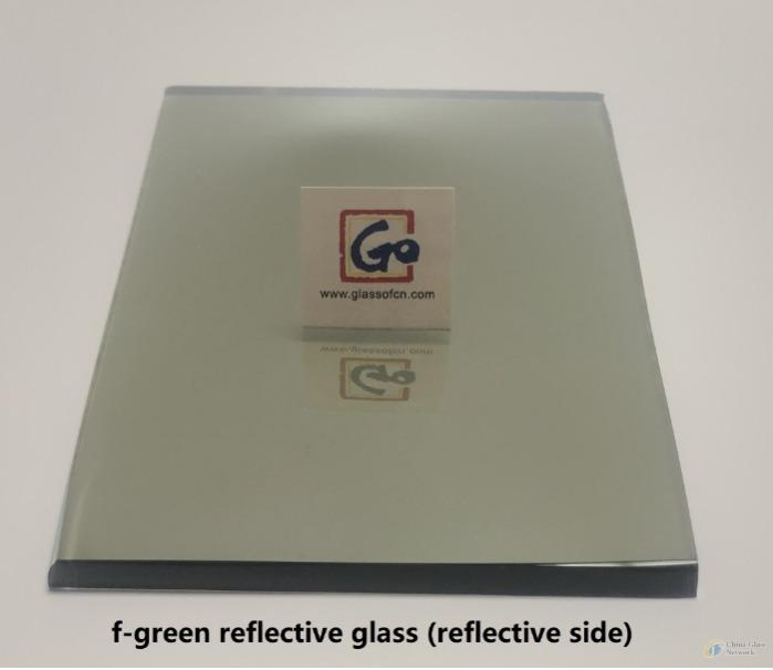 4mm--8mm French Green Reflective Float Glass - tinted reflective glass,french green reflective float glass