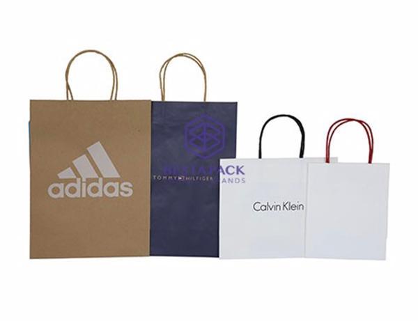 Papirpose - Kraftpapirpose med papirstrenghåndtag