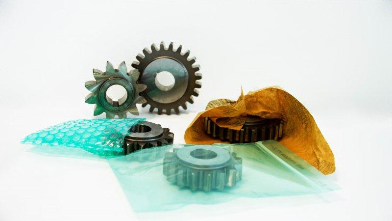 VCI Packaging - VCI-based packaging enables active corrosion protection.