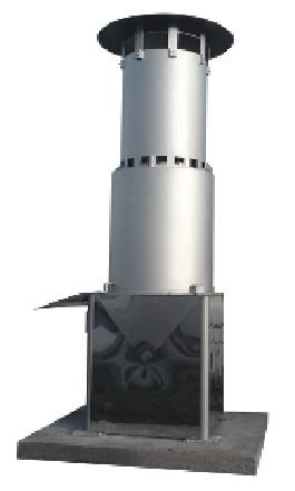 Flare - residual Biogas Burner - Flare serves for the burning of waste gases or gases redundant
