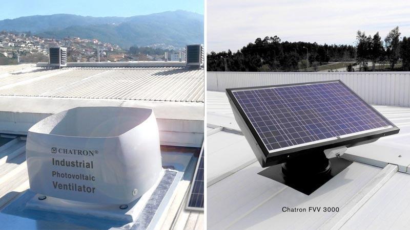 Ventiladores Solares Fotovoltaicos - FVV e VT1 - Ventilação sem custo energético