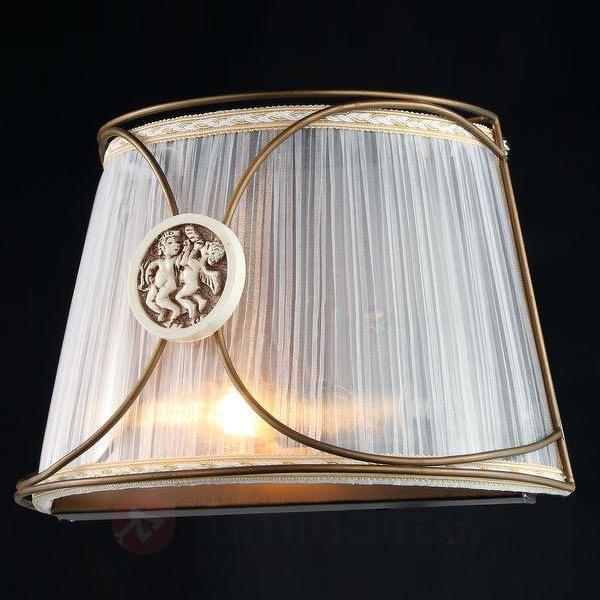 Applique Letizia en organza avec motif d'ange - Appliques en tissu