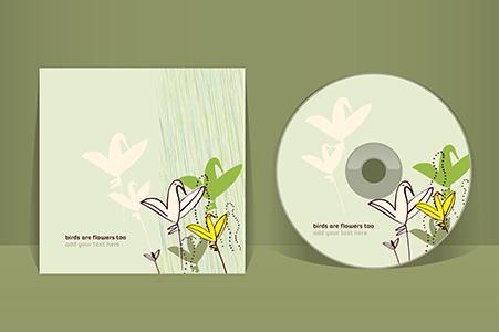 CD- eller DVD-pappficka - Pappficka med tryck till CD- eller DVD-skiva, också ismå upplagor