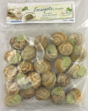 Escargots gros - Escargots biologiques et surgelés