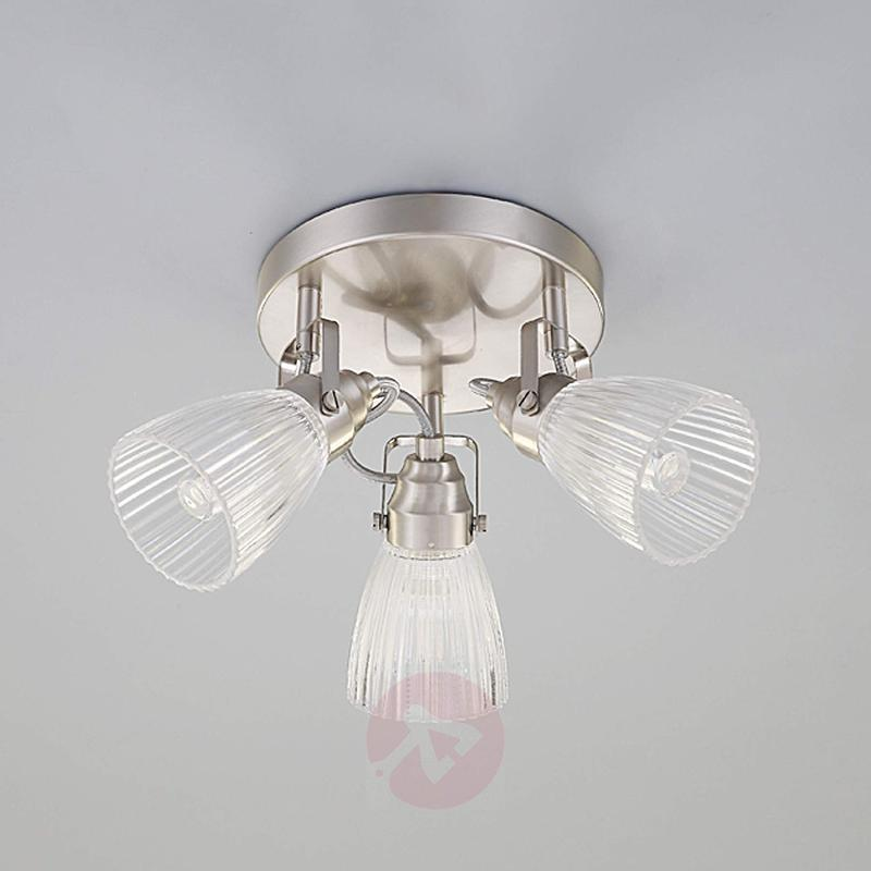 Round led bathroom ceiling light kara fluted glass indoor lighting round led bathroom ceiling light kara fluted glass indoor lighting aloadofball Images