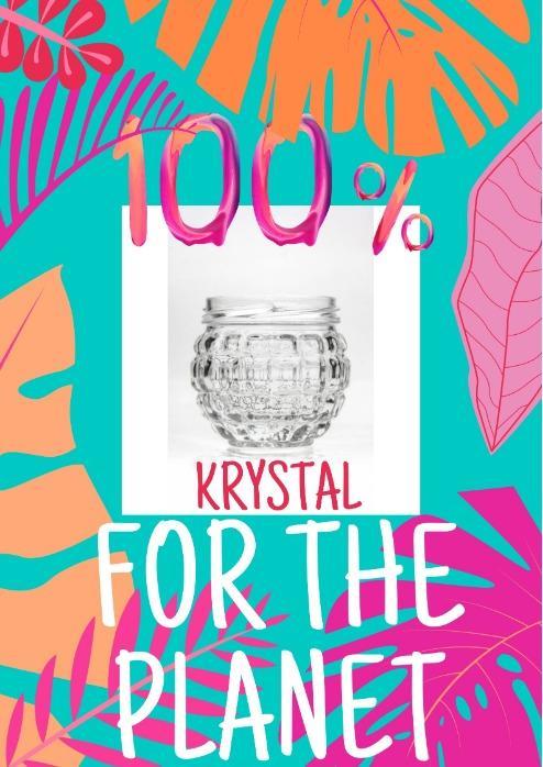 Krystal (Gourmet 160) - Vaso para vela especial