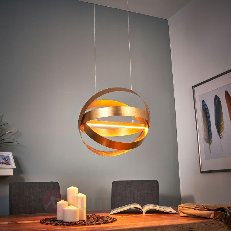 Suspension LED dorée Rings - Suspensions LED