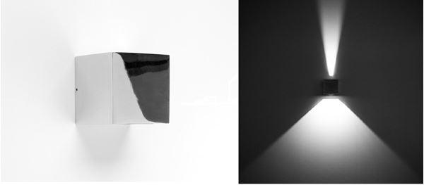 """APPLIQUE """"QUASAR 10"""" LED 1NB+1WB 6W 3000K CHROME - Intérieur décoratif"""