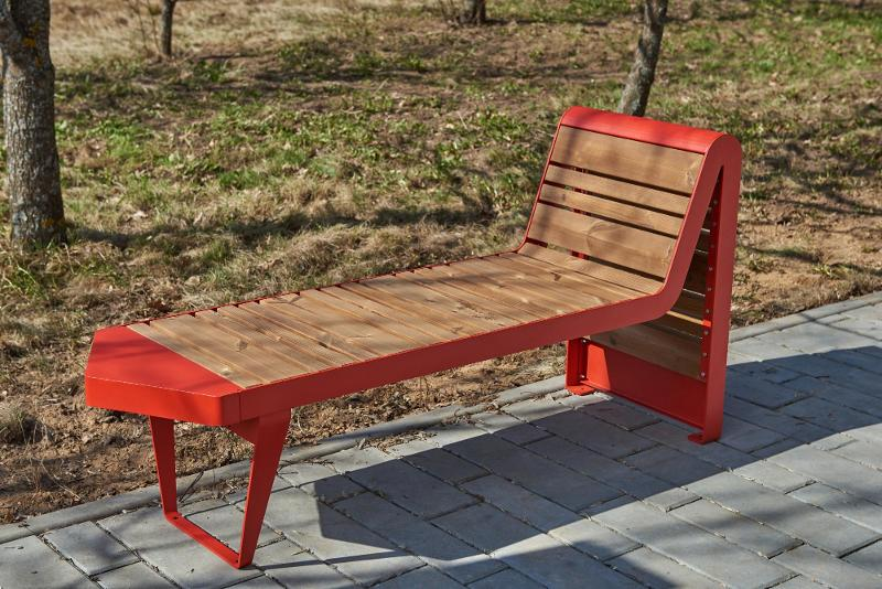 Bench «Infinity wood» (Sun louger) - Benches and sun loungers