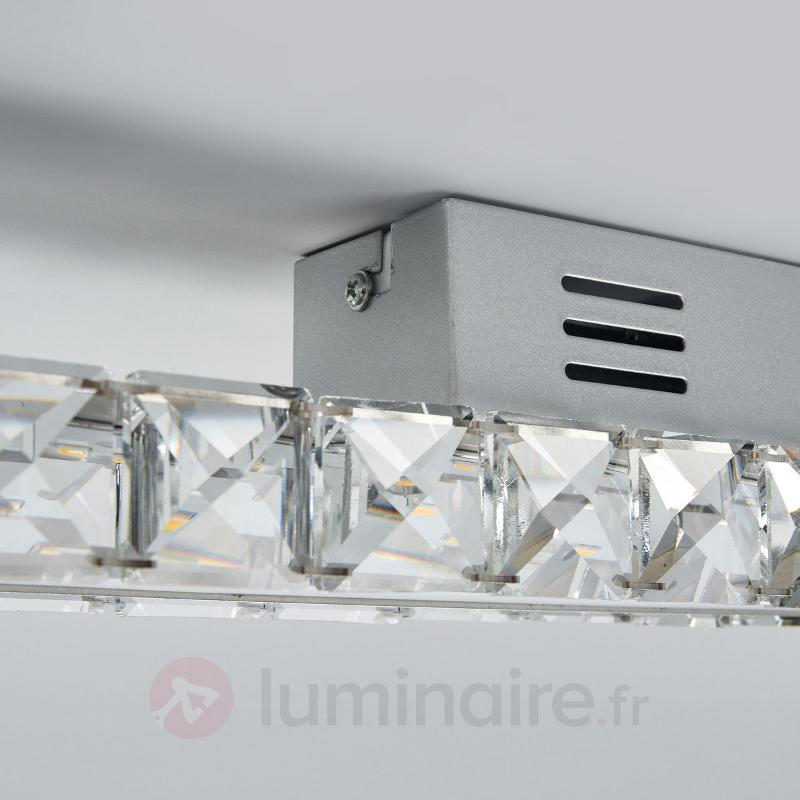 Plafonnier cristal Sesilia à LED puissant - Plafonniers LED