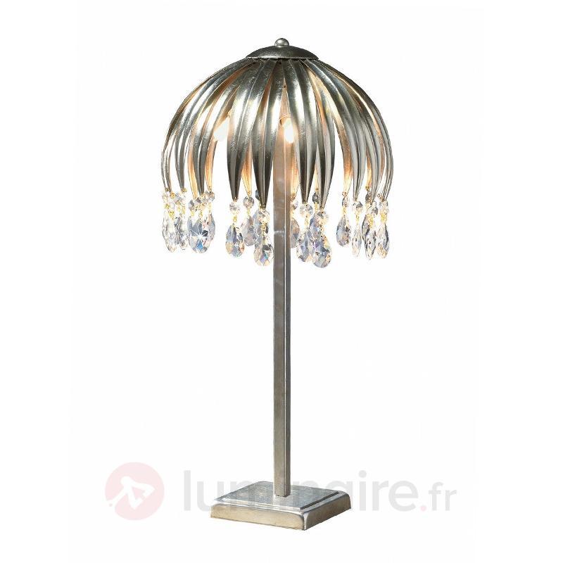 Lampe à poser Minna argentée - Lampes à poser en cristal